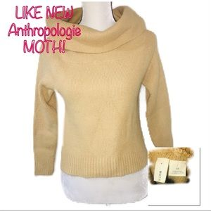 •ANTHROPOLOGIE | LN | Crop Cowl Neck Sweater•